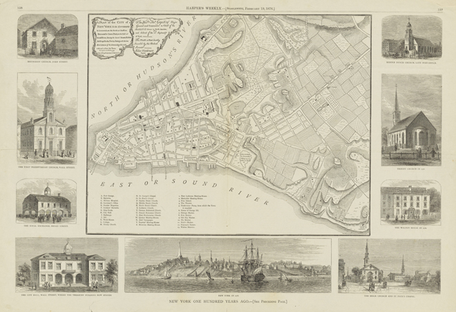 Harper's Weekly. Peter Andrews (fl. 1765-1782). A plan of the city of New-York & its environs. 1876. Museum of the City of New York. 29.100.2601