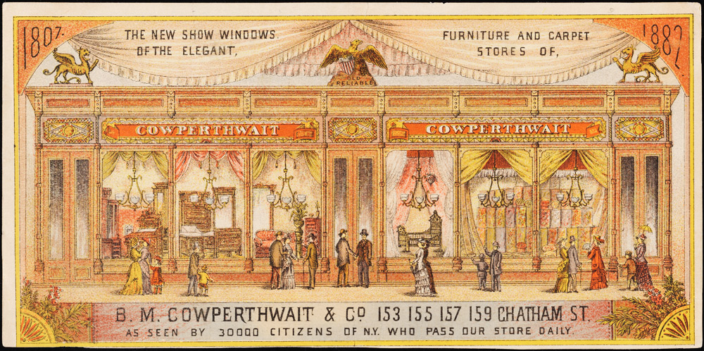 B.M. Cowperthwait & Co. trade card, 1882
