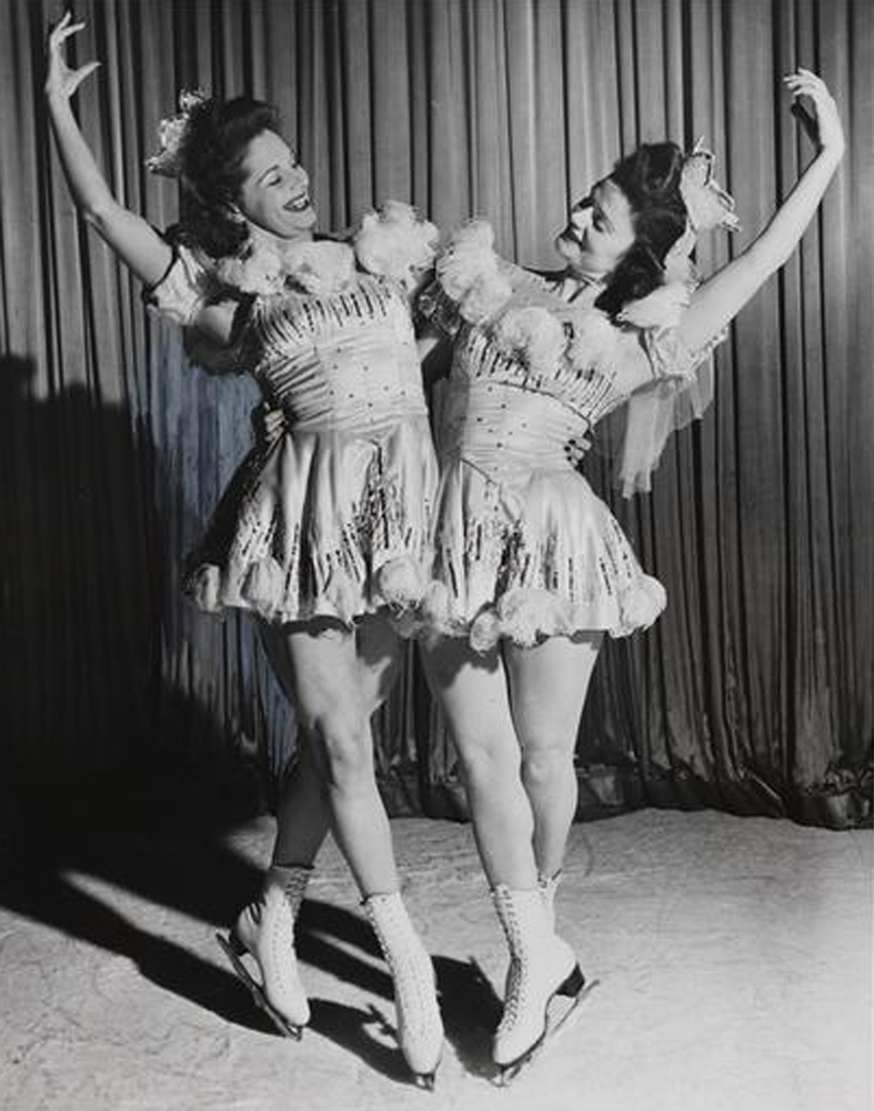 Audrey Peppe and Mary Jane Yeo in Stars on Ice