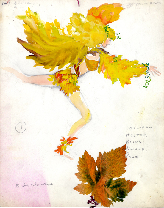 "Costume design for ""Like a leaf falling in the breeze"""