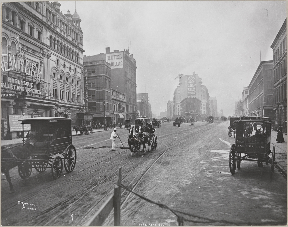 Byron Company. Longacre Square (Now Times Square), Broadway and 42nd Street, 1900. Museum of the City of New York. 93.1.1.17932