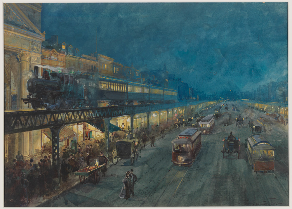 Bowery at Night, c. 1895