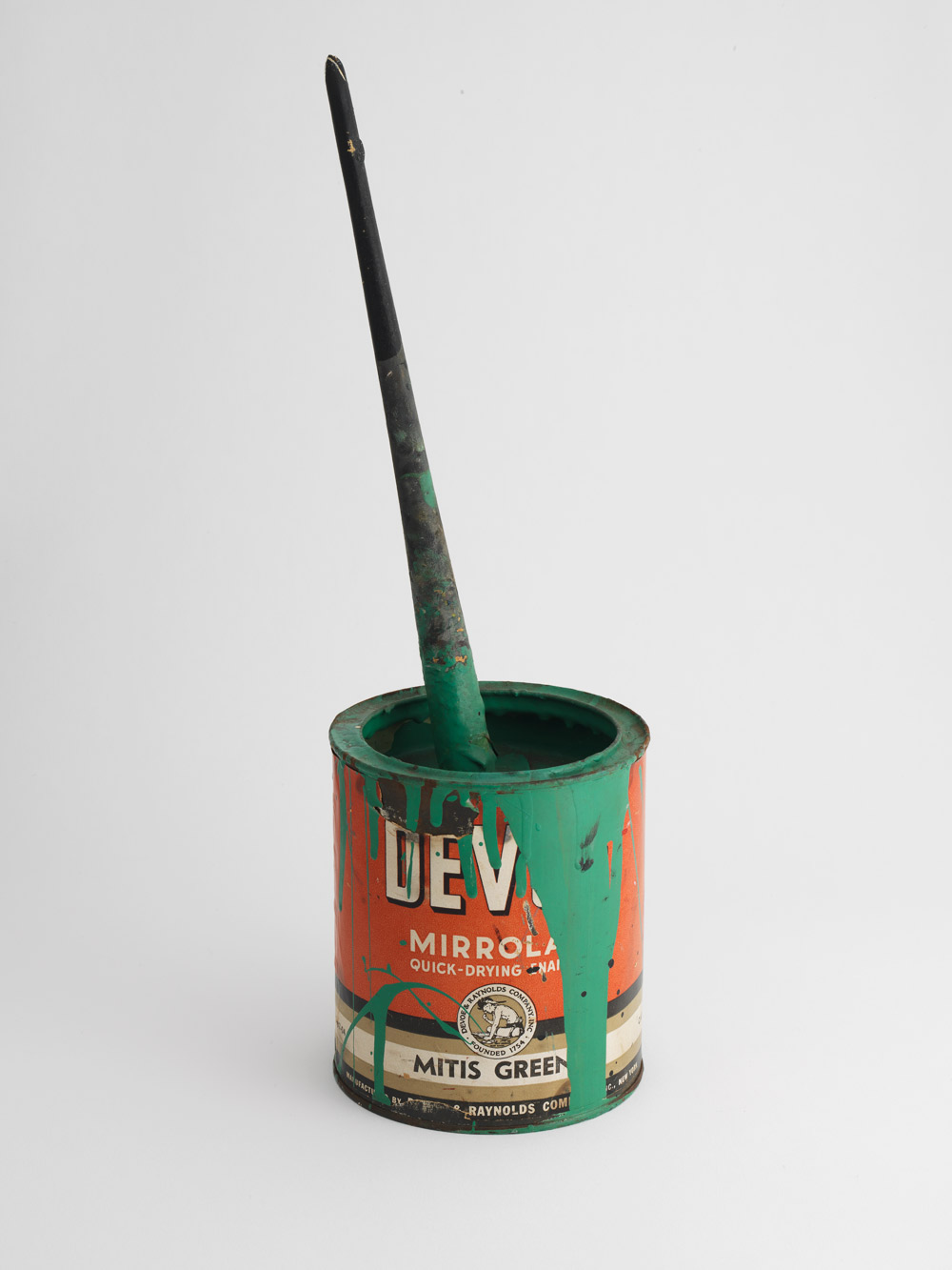 Paint can, mixer, and brush used by Jackson Pollock