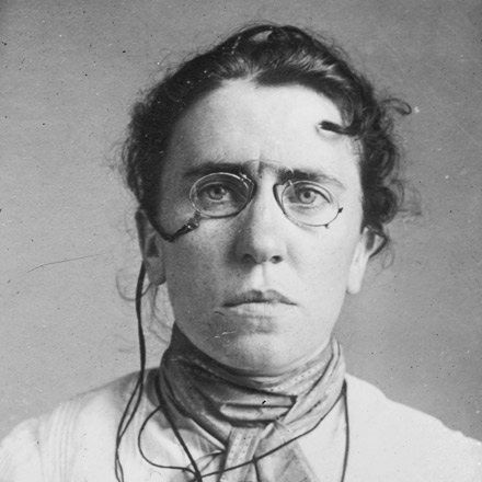 Photograph of Emma Goldman from 1911.