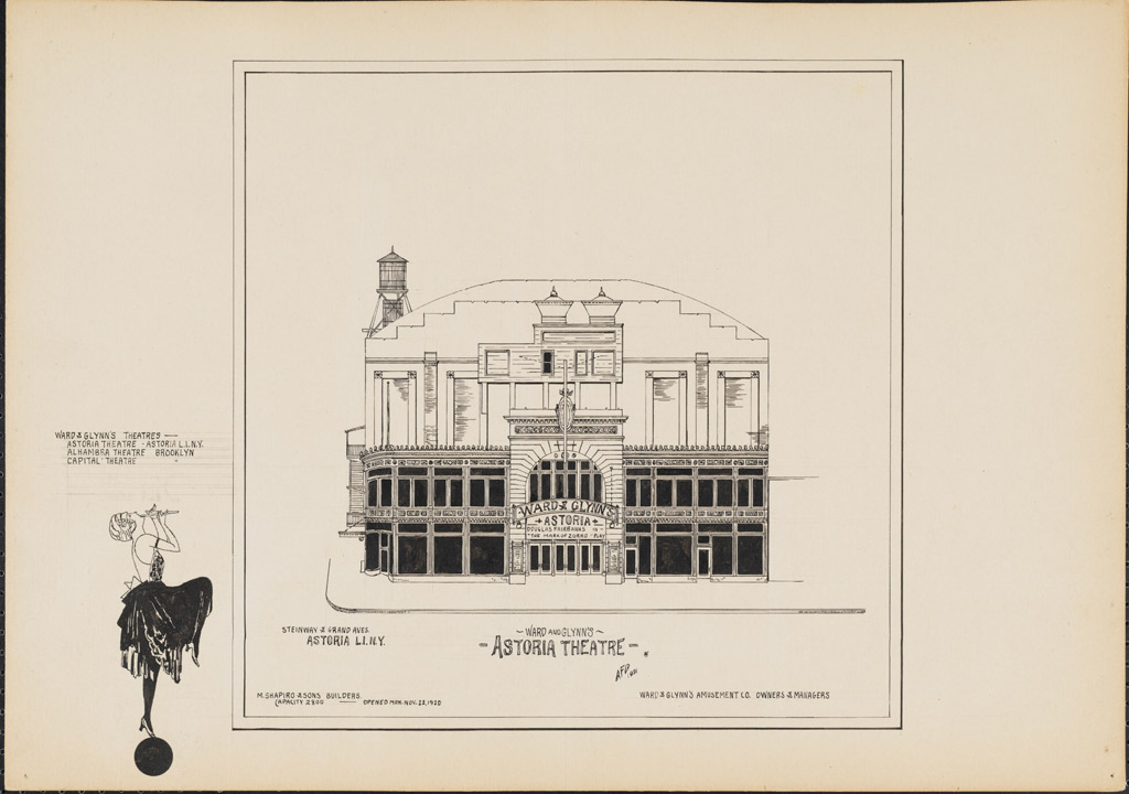 Drawing of Ward and Glynn's Astoria Theatre, 1921