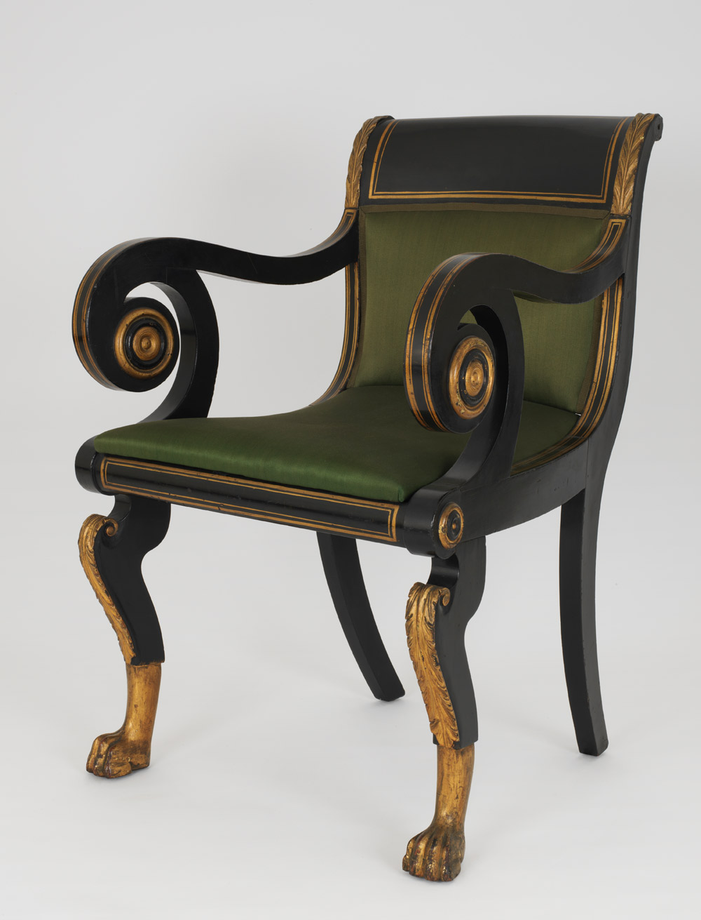 Photograph of a Duncan Phyfe Armchair
