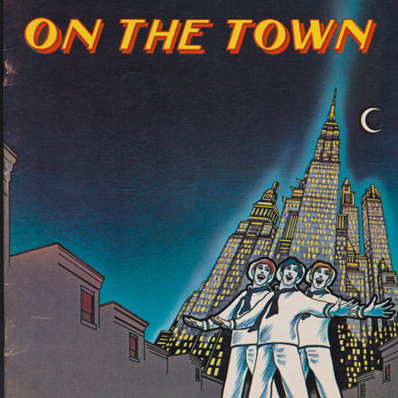 Souvenir program for On the Town, 1971