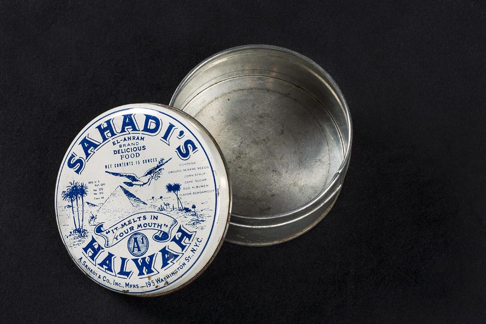 Sahadi's Halwah empty tin