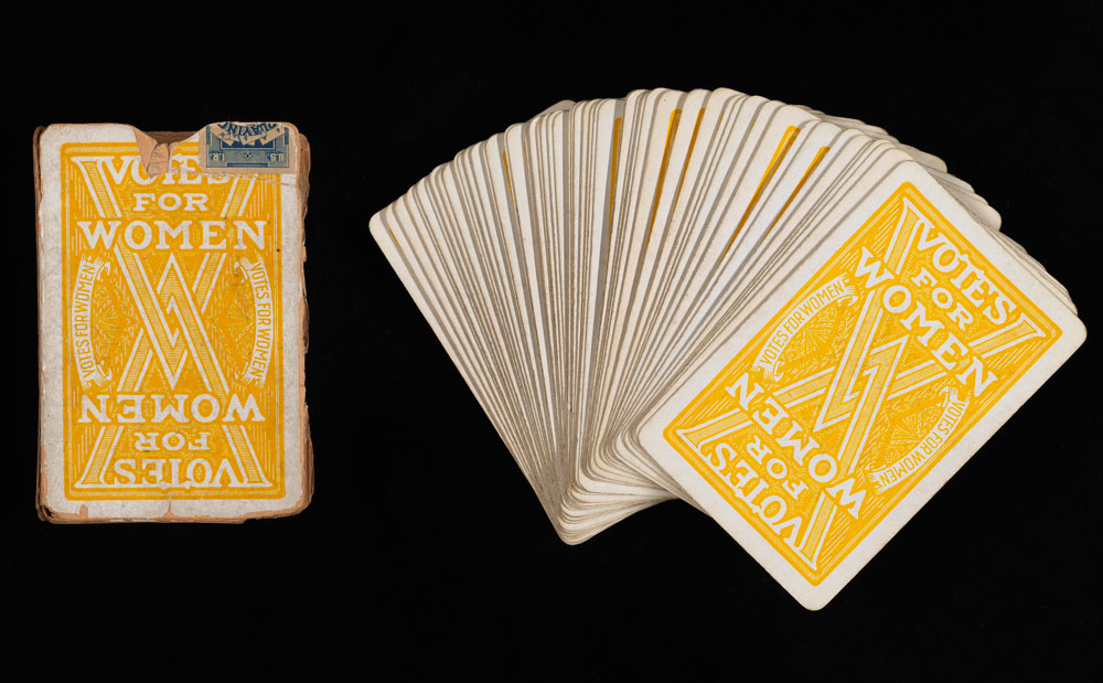 Playing cards advocating votes for women