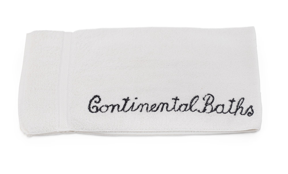 Towel from Continental Baths in the Ansonia Hotel, c. 1970