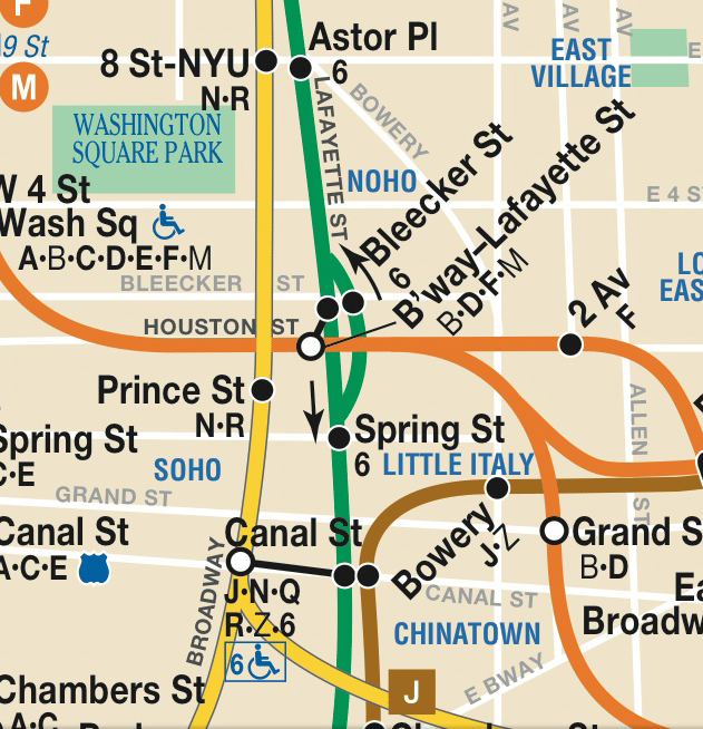 MTA New York City Subway Map via http://www.mta.info