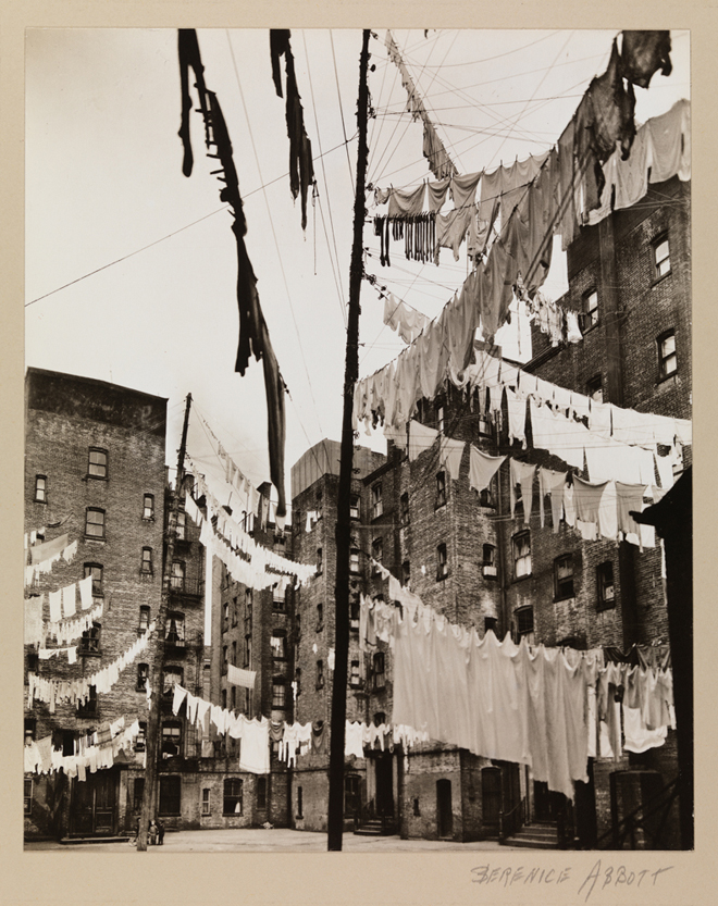 Berenice Abbott (1898-1991). Court of the First Model Tenements in New York City. March 16, 1936. Museum of the City of New York. 40.140.48.=
