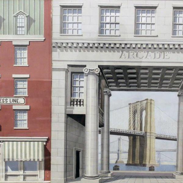 Richard Haas Maquette from Lower Manhattan