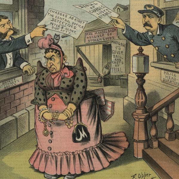 """Uma foto do museu de Edward Van Every de """"Mother Mandelbaum"""", de Sins of New York."""