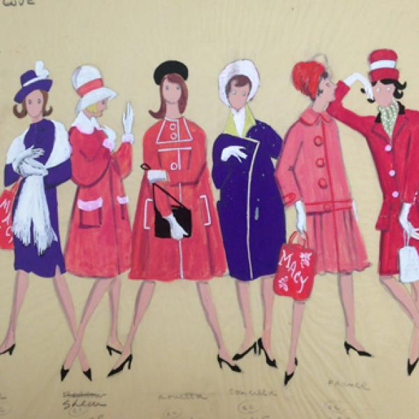 Uma foto do museu de Alvin Colt de [Macy's Shoppers em Here Love] em 1963.
