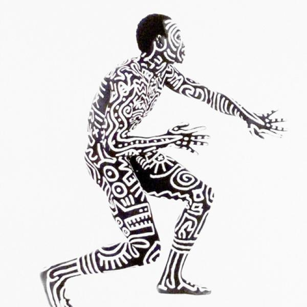 Keith Haring Body Paint