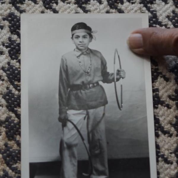 Foto de Louis Mofsie quando criança