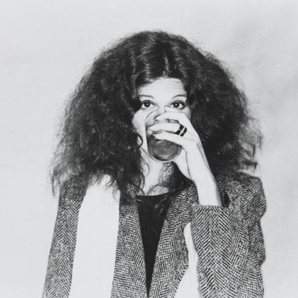"""A photo by an unknown photographer of [Gilda Radner in """"Gilda Radner- Live From New York""""] in 1979."""