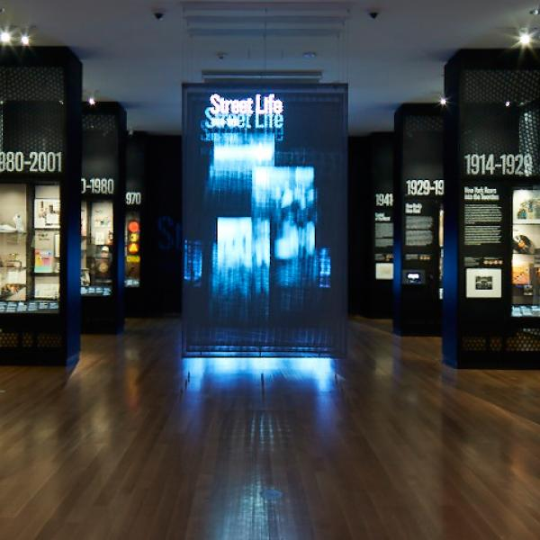 View of the World City gallery at the Museum of the City of New York.