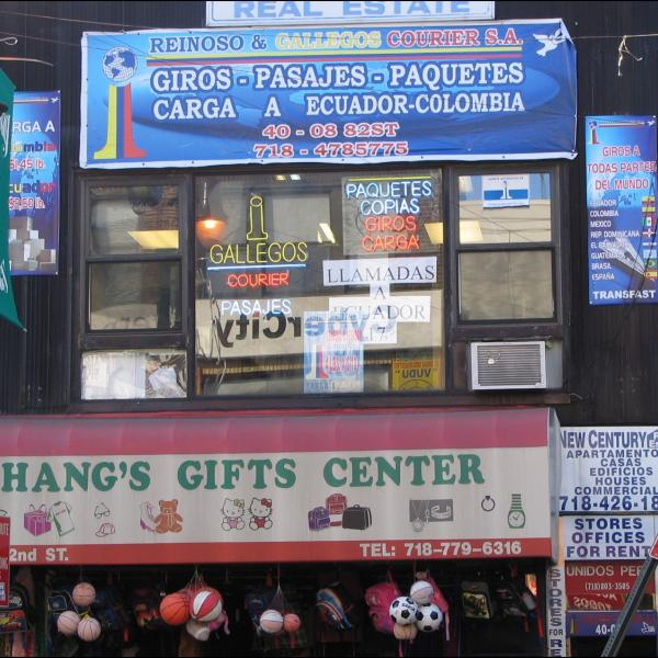 Photograph of shops in Queens, NY