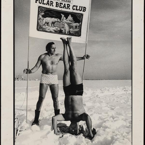 Photo of the Coney Island Polar Bear Club acquired by the Museum of City of New York's Collections Team.