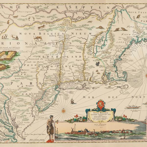 Map of New Amsterdam 1623