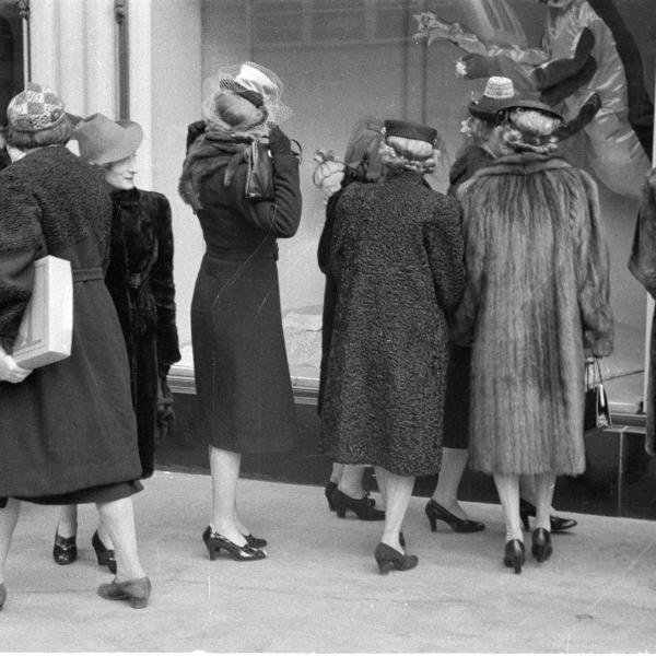 Women window shopping