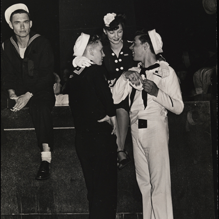 Unknown. [Sailors and woman in Times Square.], ca. 1945. Museum of the City of New York. X2010.11.3996