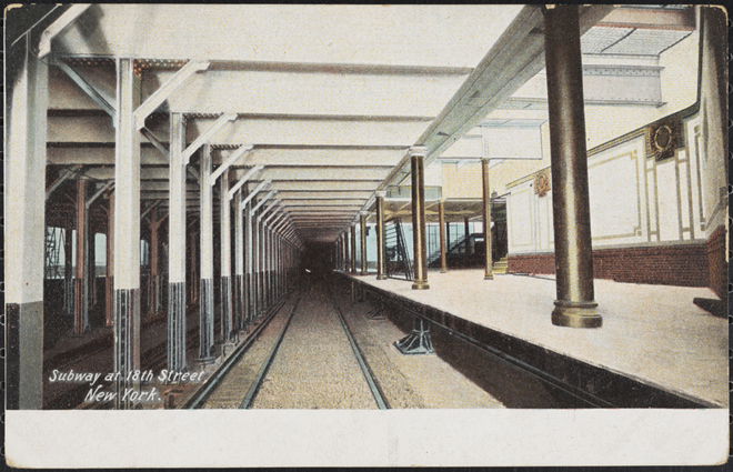 H.C. Leighton Co. Subway at 18th Street, New York. ca. 1906. Museum of the City of New York. X2011.34.2880