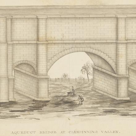 F. B. (Fayette Bartholomew) Tower. Aqueduct Bridge at Clendinning Valley. ca. 1842. Museum of the City of New York. 2002.35.3