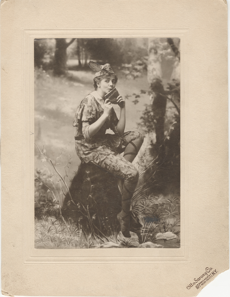 Otto Sarony Co. [Maude Adams as Peter Pan], 1905. Museum of the City of New York. 32.290.9