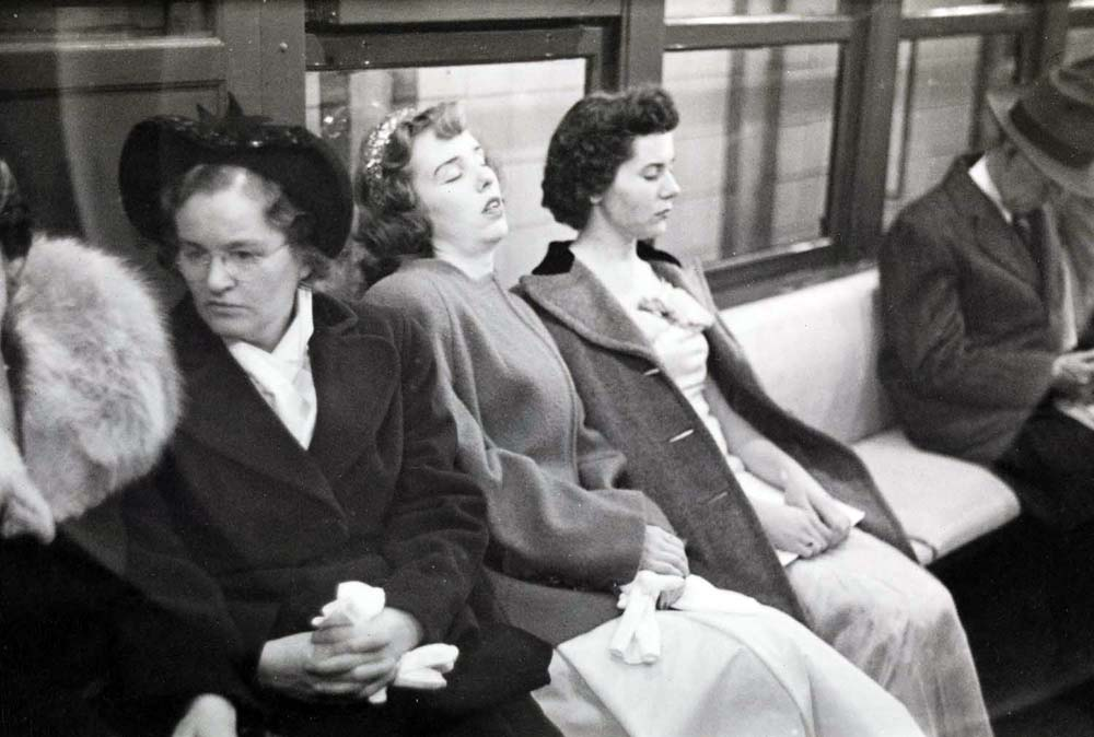 Stanley Kubrick. Life and Love on the New York City Subway. Women in a subway car. 1946. Museum of the City of New York. X2011.4.10292.11E