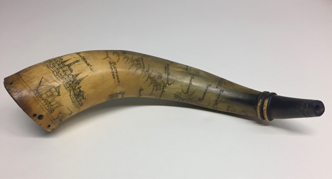 Powder Horn, 1754-1763. Museum of the City of New York. 36.340.