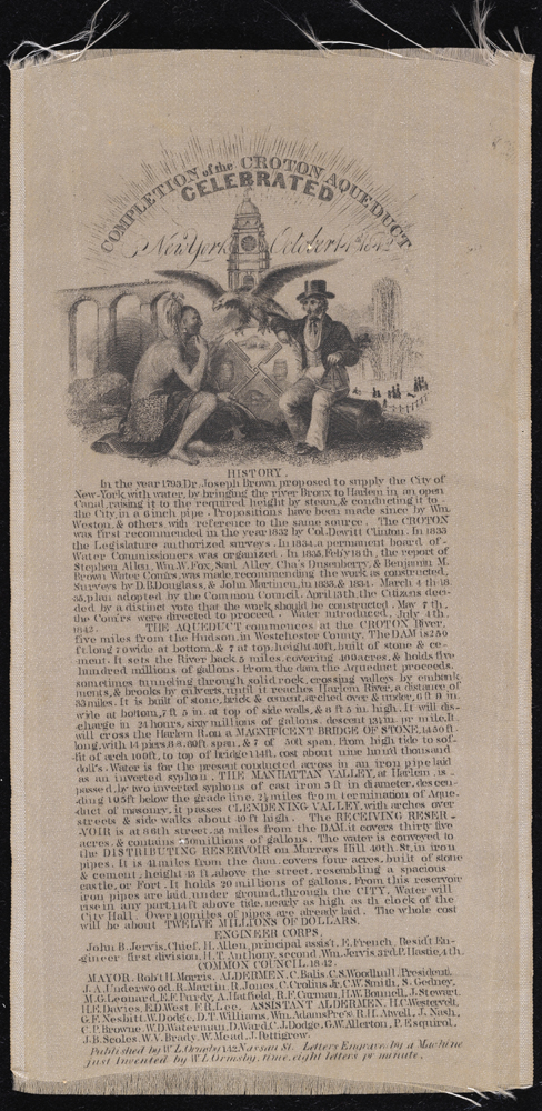 Completion of the Croton Aqueduct Celebrated. 1842. Museum of the City of New York. 38.117