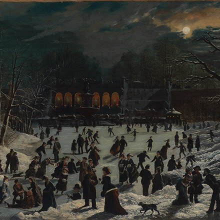 Moonlight Skating, Central Park
