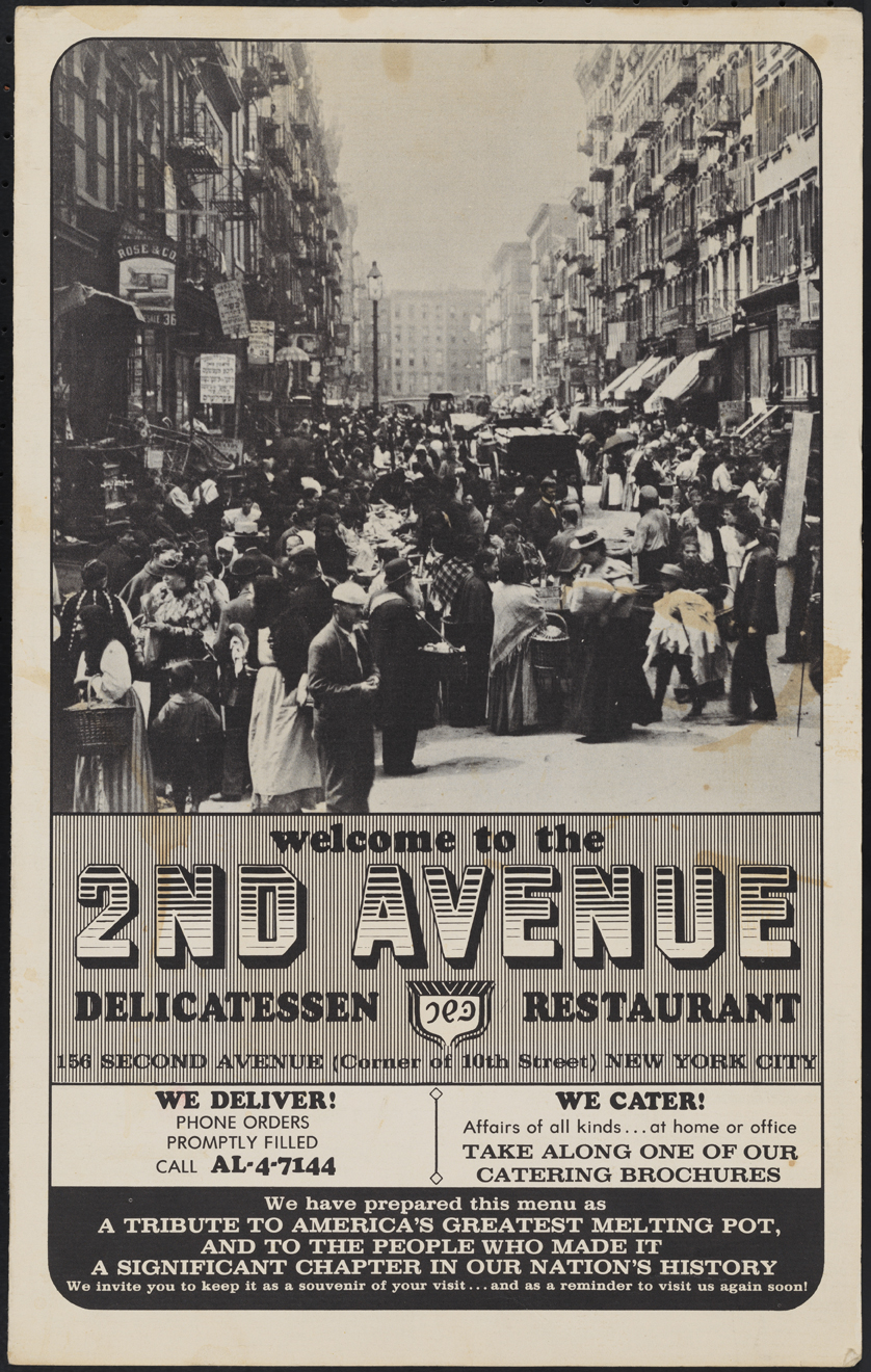 2nd Avenue Delicatessen and Restaurant. 1968. Museum of the City of New York. F2014.18.1