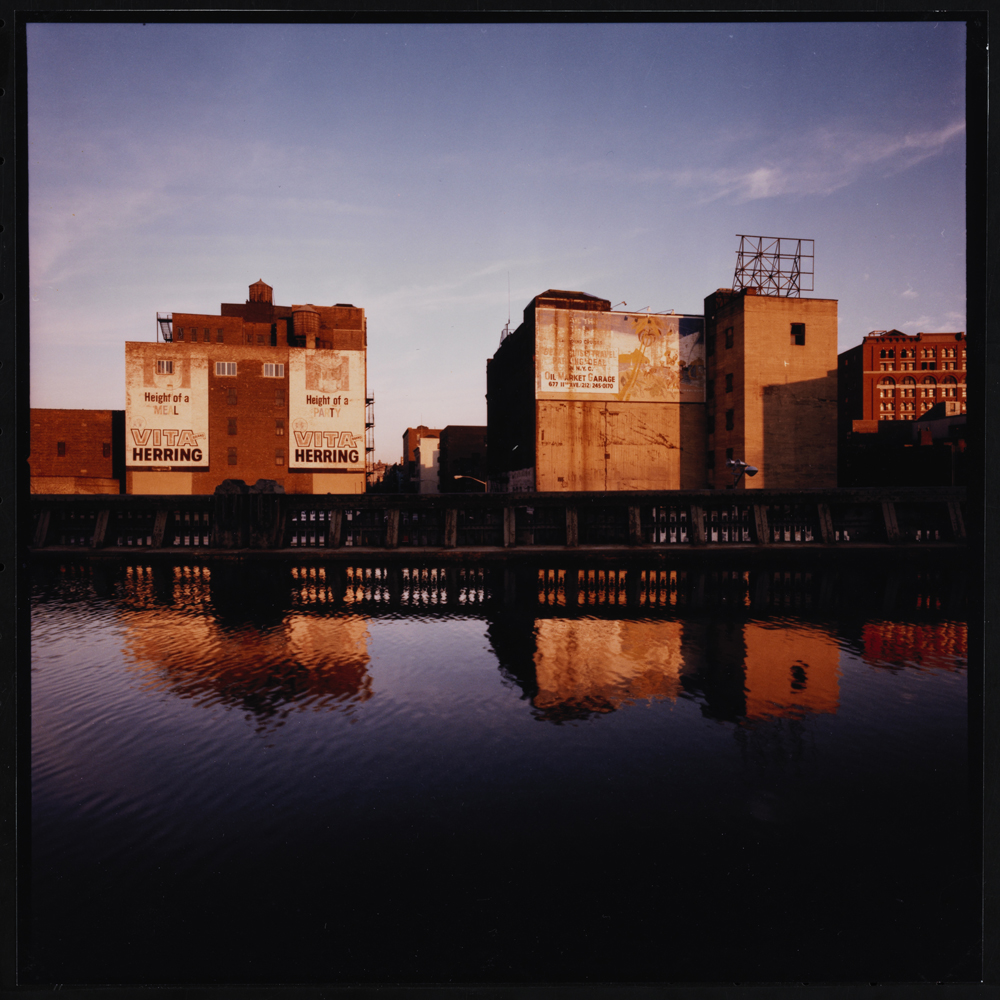 Jan Staller, Billboards seen from the West Side Highway, 1978. Museum of the City of New York, 2015.5.2