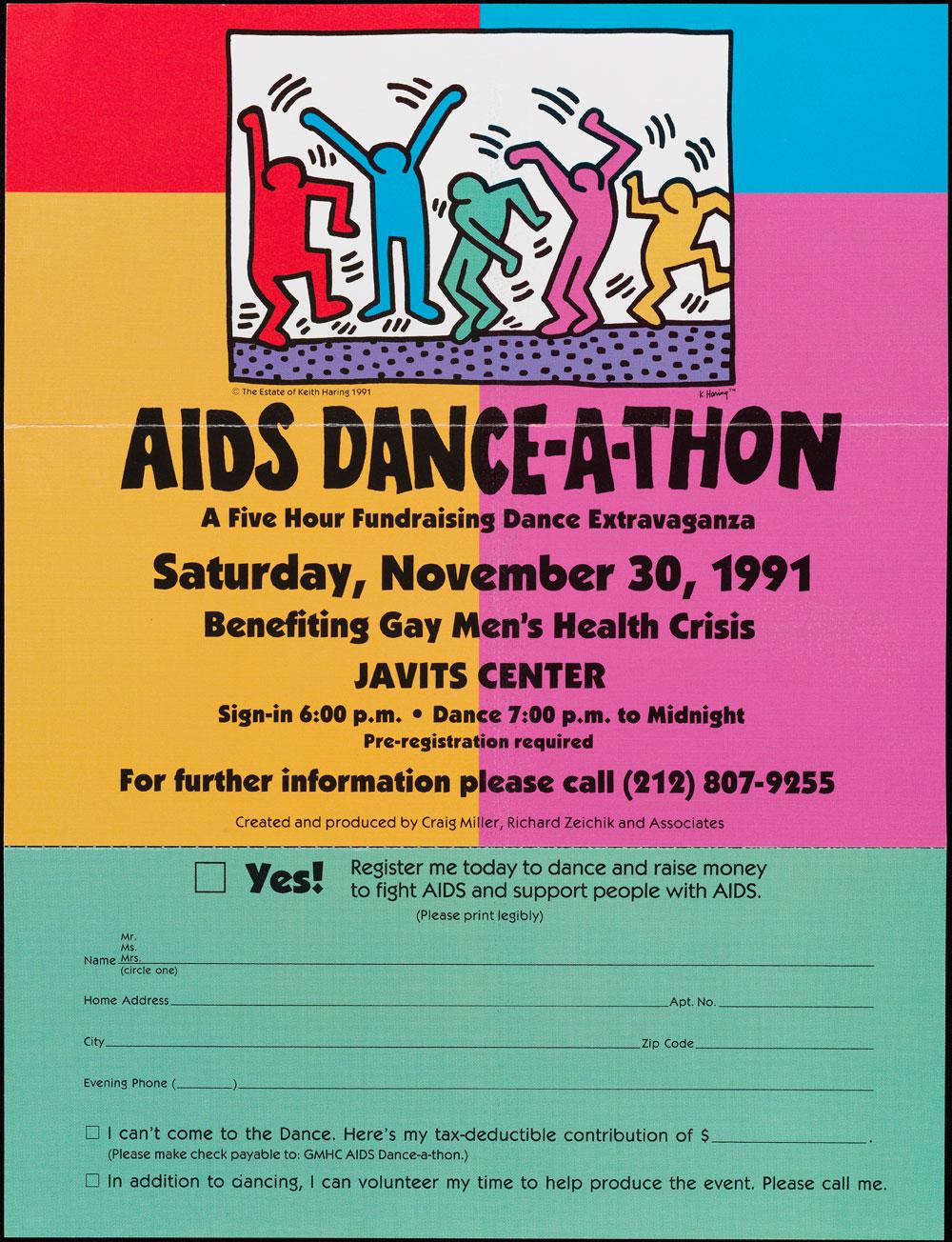 Gay Men's Health Crisis, 1991 flyer