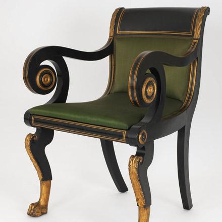 Photograph of a Duncan Phyfe Armchair