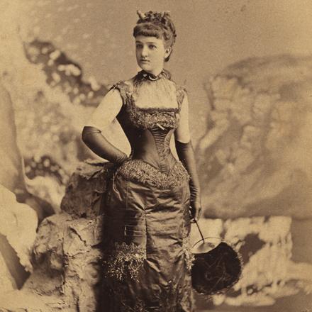 """Mora (b.1849). Miss Elizabeth """"Bessie"""" Remsen Webb (later Mrs. George B. Parsons)."""