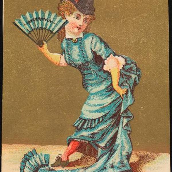 Uma foto do anúncio de 1881 da JA Bluxome @ Co. no Museu.