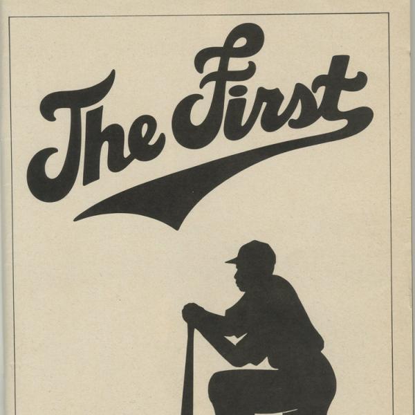 Programa de teatro da Playbill para The First, 1981 no Teatro Martin Beck.