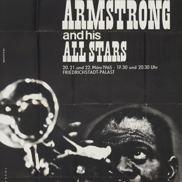 Poster Satchmo in East Berlin