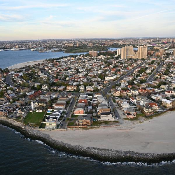 Les Rockaways au lendemain de l'ouragan Sandy.
