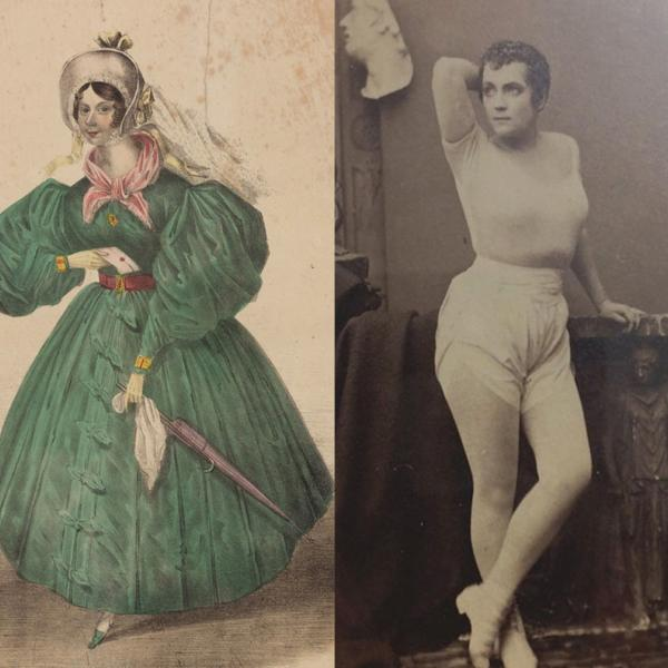 Two women who were rebels of the Victorian era. The women are not identified, but defied gender expectations of the time