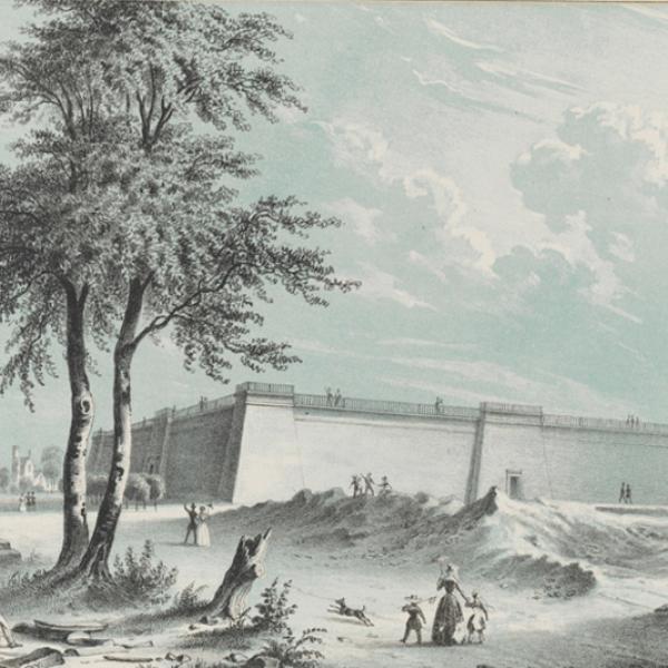 Augustus Fay. Reservatório de Croton. ca. 1850. Museu da cidade de Nova York. 29.100.1525