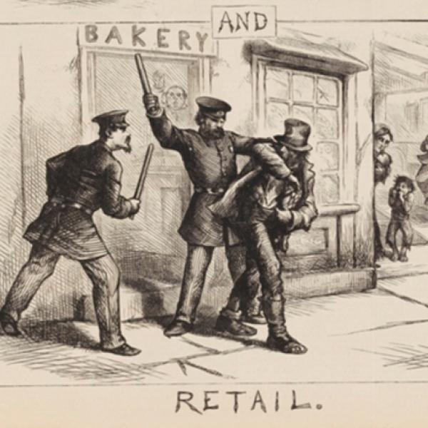 Thomas Nast (1840-1902). Atacado e varejo. 1871. Museu da cidade de Nova York. 99.124.5