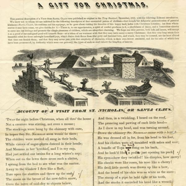 N. Tuttle. Conta de uma visita de São Nicolau, ou Papai Noel. Museu da cidade de Nova York. 54.331.17