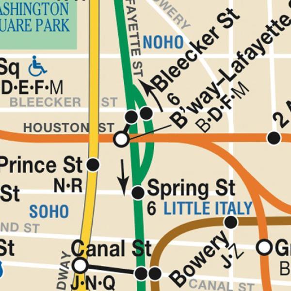 Mapa do metrô do MTA New York City via http://www.mta.info.