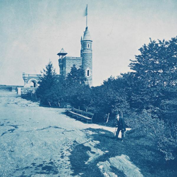 Castelo de vedere, olhando para o norte, ca. 1878. Augustus Hepp
